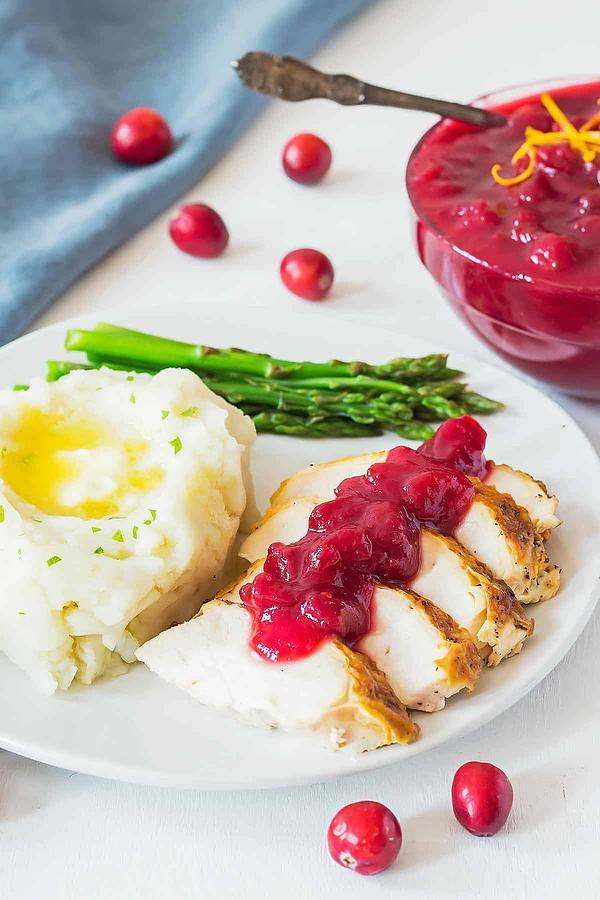 Turkey Dinner with Cranberry Sauce