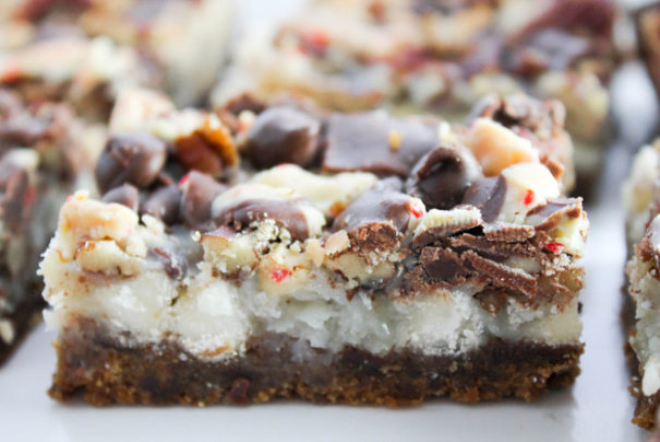 Peppermint Magic Cookie Bars