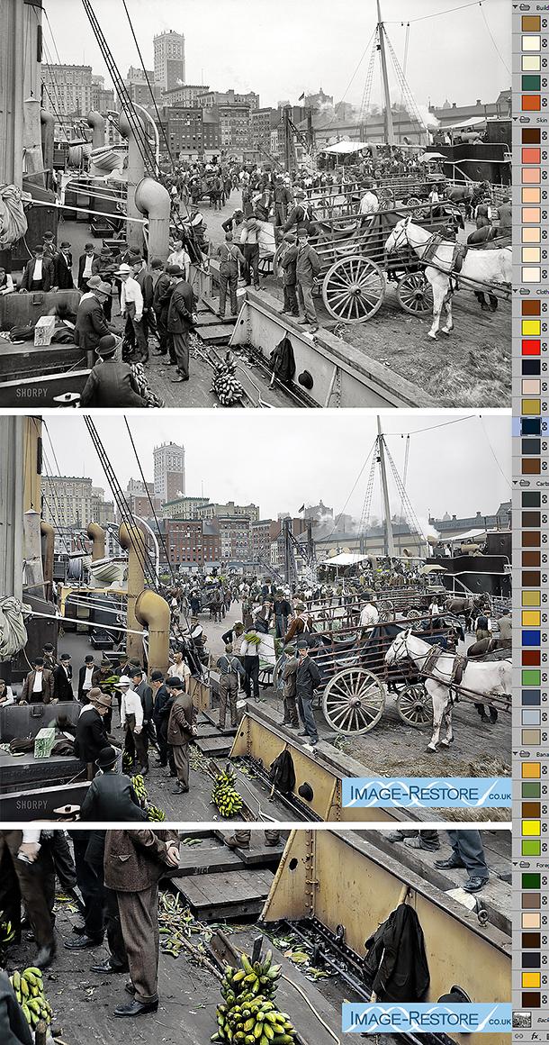 New York Docs 1905 digitally coloured by Neil Rhodes