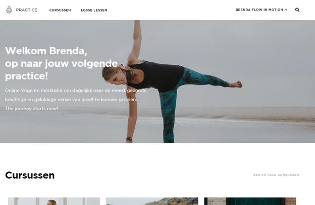 happy with yoga practice platform dashboard