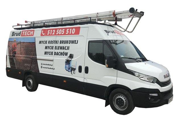 mycie obiektów, budynków, mycie elewacji, dachów i kostki brukowej. Auto serwisowe firmy Brudtech