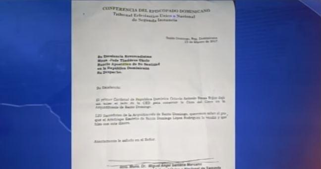 Monseñor Santana Marcano pide nuncio investigue venta de terreno de la iglesia