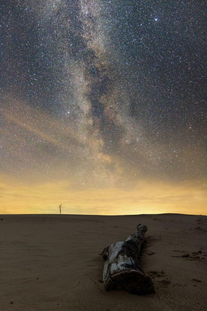 Ondergaande zon in augustus - Fotograaf Jorgen van Meijbeek