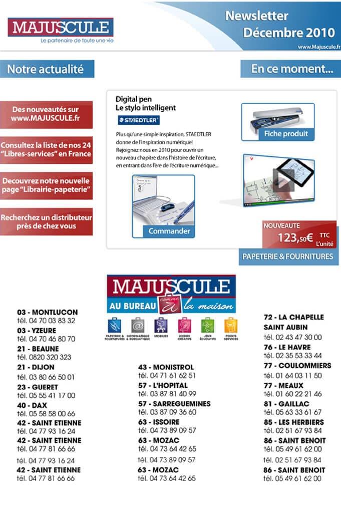 Newsletter société Majuscule