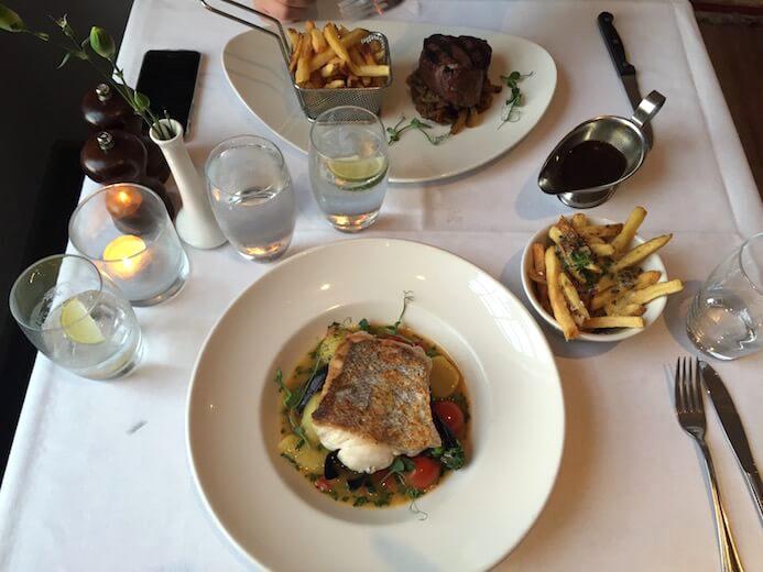 review Simple, clean, fresh table setting at Asgard Restaurant