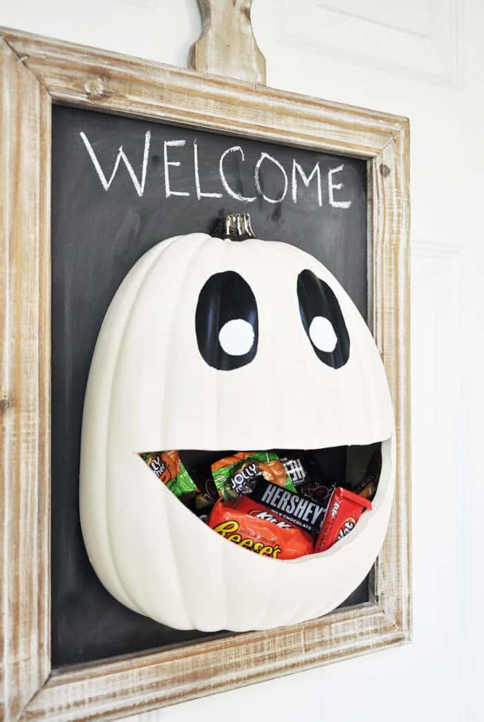 Candy Door Hanger Halloween pumpkin