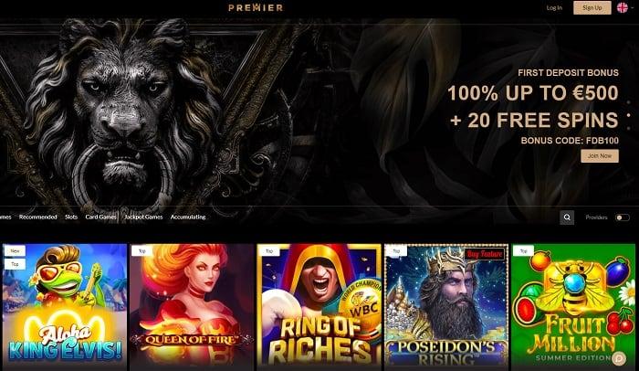 Premiere Casino welcome bonus