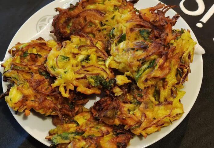 Beignets de légumes à la farine de pois chiche