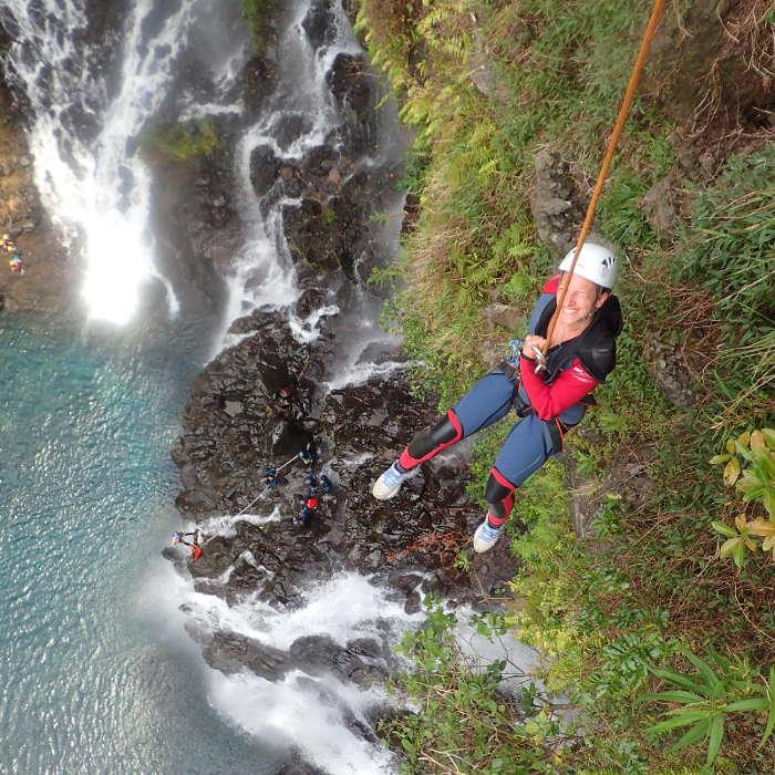 canyoning à la Réunion cascade de Grand Galet à Langevin.
