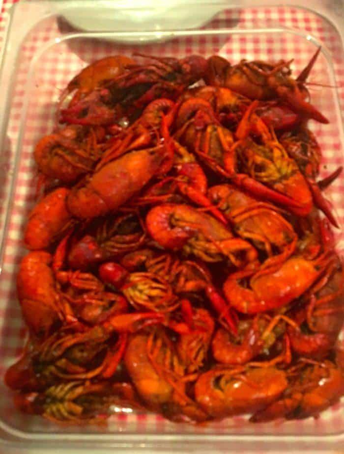 Boiled crayfish at randol's