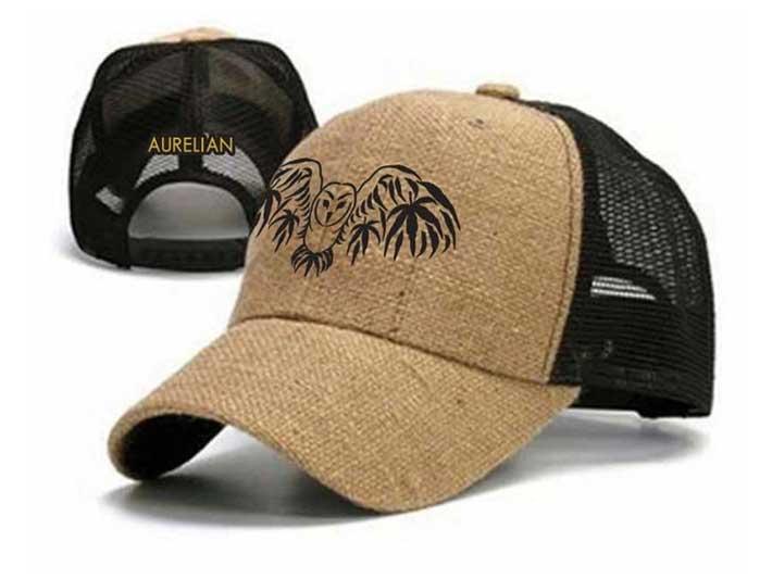 Barn Owl Hemp Trucker Hat