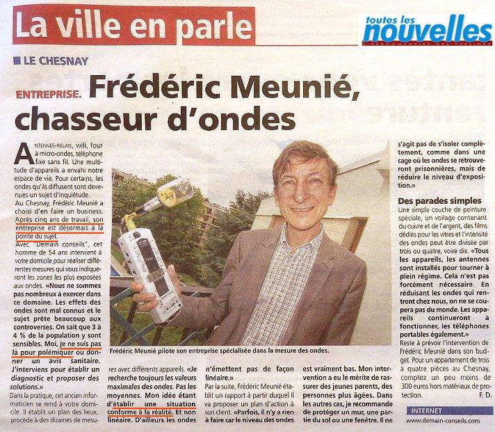 Frédéric Meunié pilote son entreprise spécialisée dans la mesure des ondes