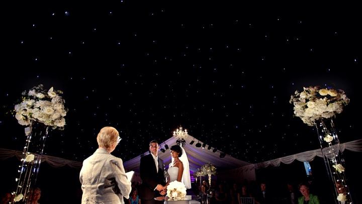 Photograph of wedding ceremony room at Heaton House Farm