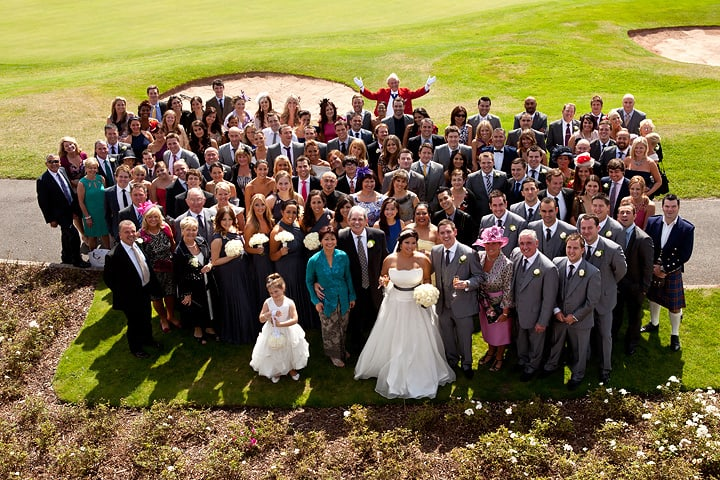 All guests pose for groups photograph