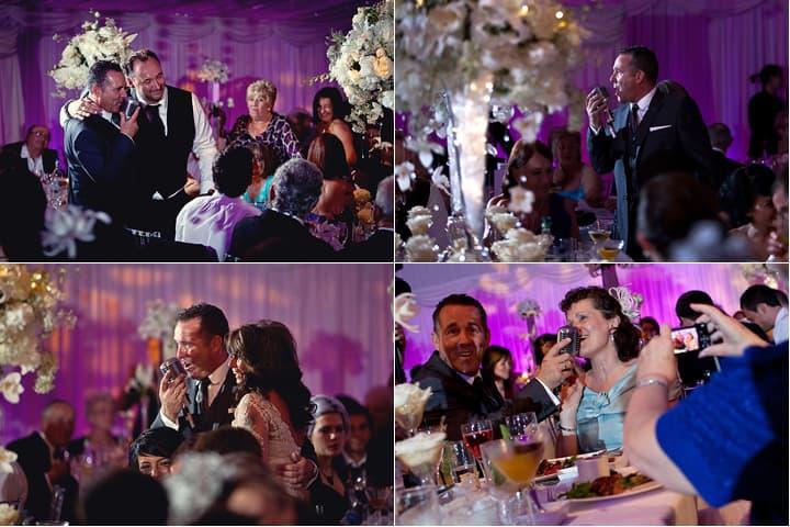 Singer entertainer at wedding reception