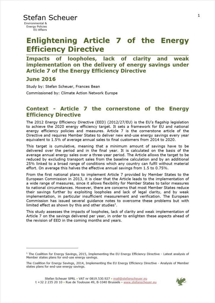 Enlightening Article 7 of the Energy Efficiency Directive