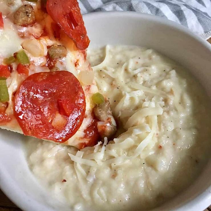 White Garlic Cheesy Parmesan Pizza Dipping Sauce