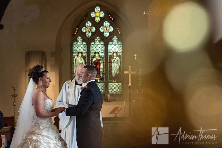 Wedding at St Edeyrns Church.