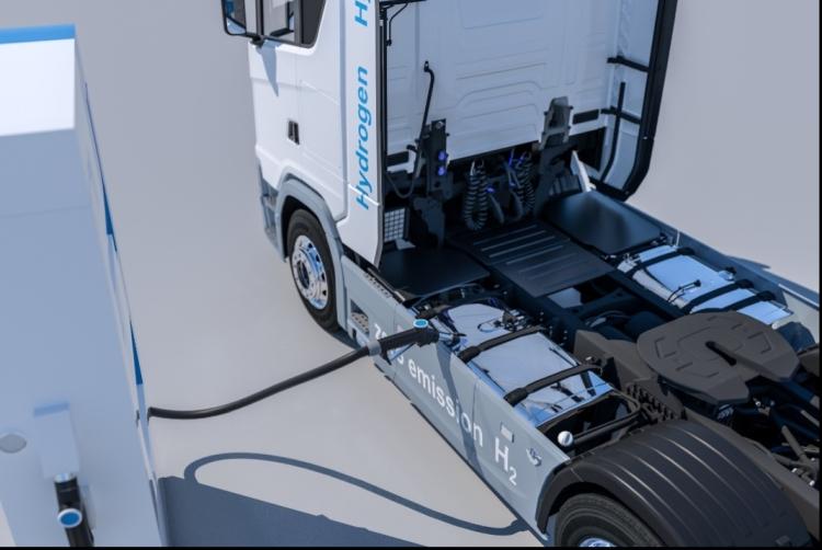 hidrogénüzemű teherautó