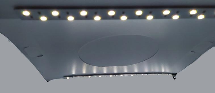 Image shows both LED strips of light.