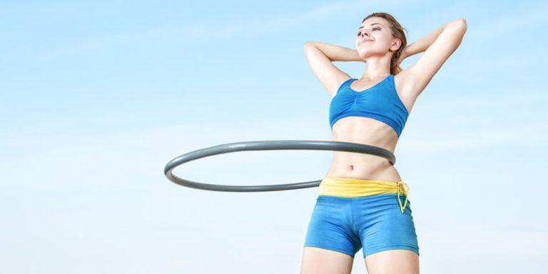 Hula-Hoop-Reifen zum abnehmen