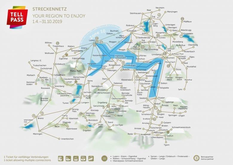 Tell Pass Regional Pass Central Switzerland