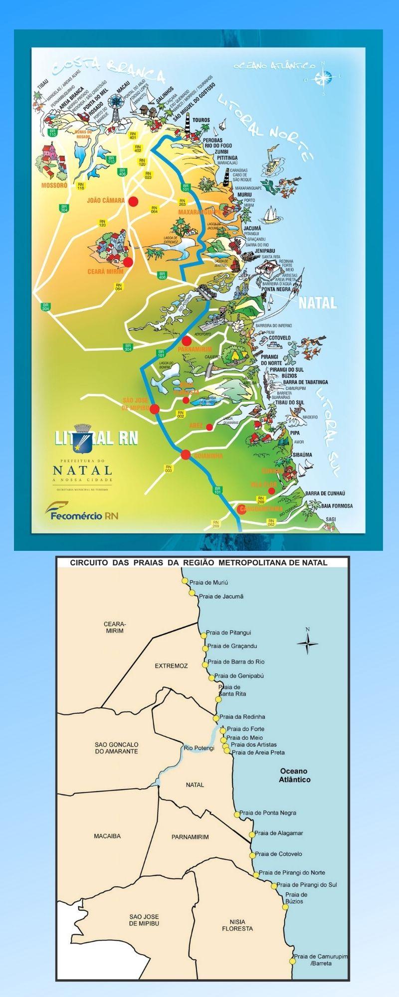 Infográfico Atrações Turísticas do Rio Grande do Norte 2