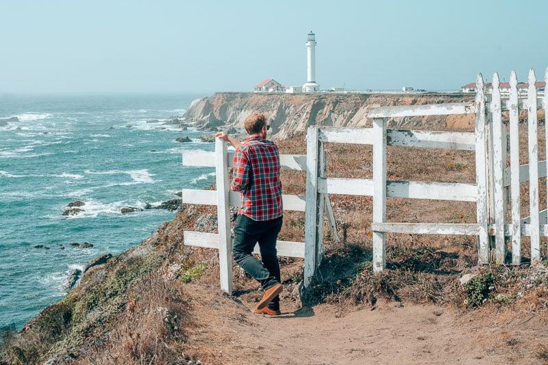 Exploring Point Arena Lighthouse in Mendocino, California.