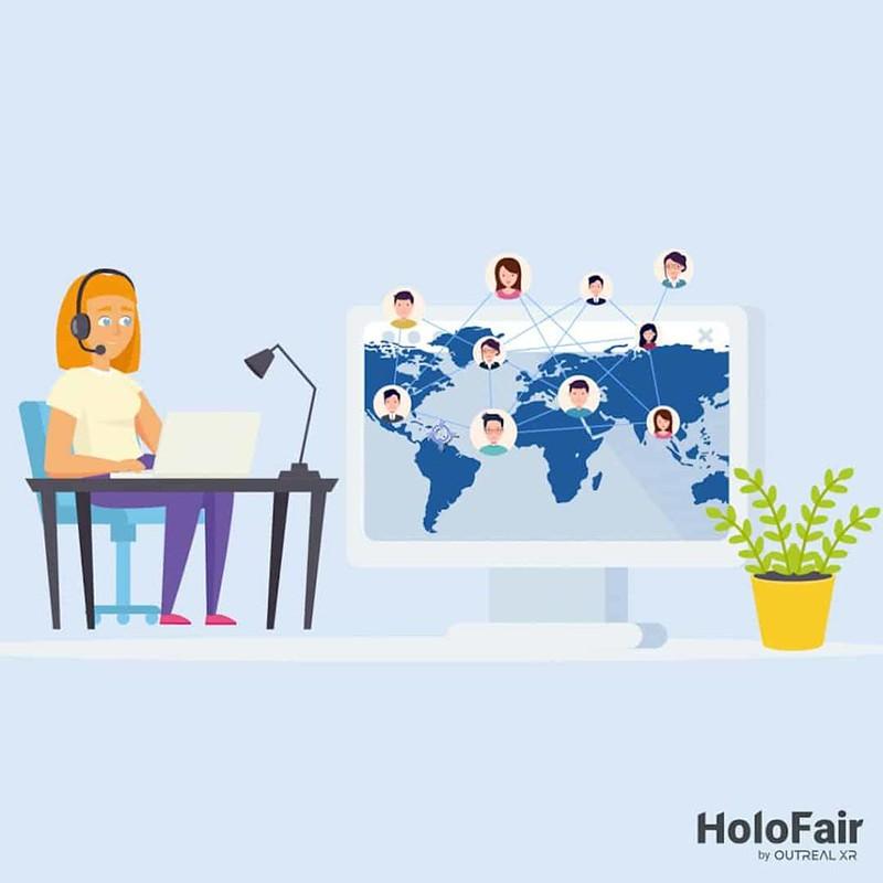woman attending virtual event
