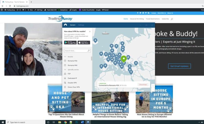 NordVPN screenshot