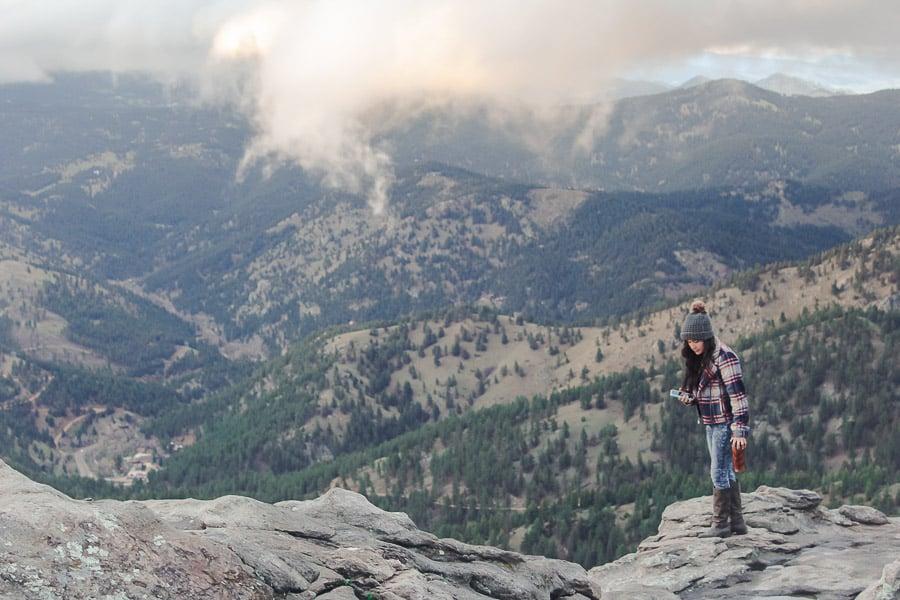 Exploring the mountains above Boulder, Colorado.
