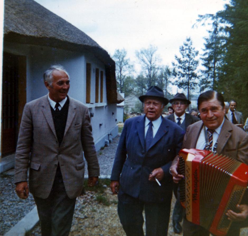 Roger Garry (à gauche) & Jean Ségurel (à droite) à La Ganotte