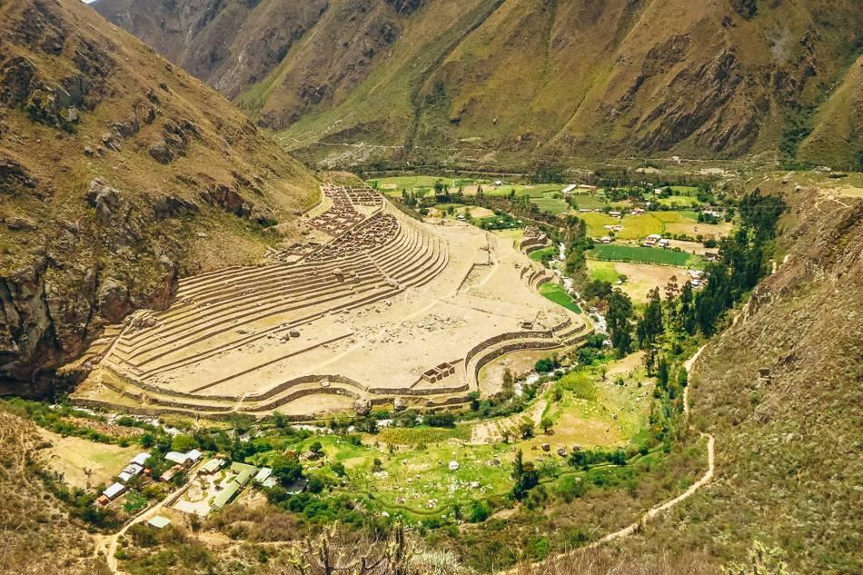 Ancient riuns along the Inca Trail