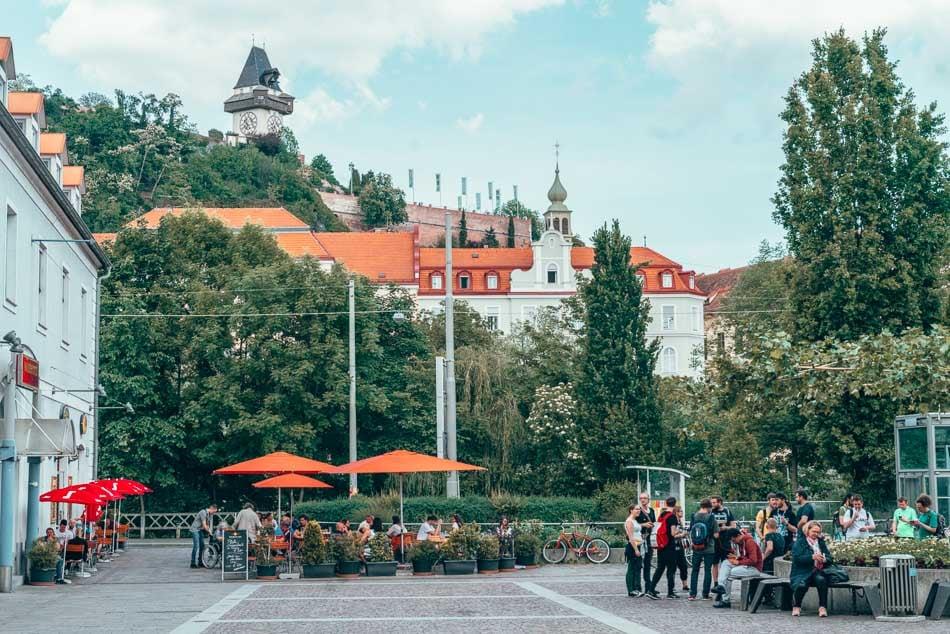 Mariahilferplatz in Graz, Austria.