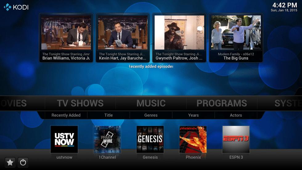 Je kunt met Kodi ook tv kijken, denk bijvoorbeeld aan live voetbal.