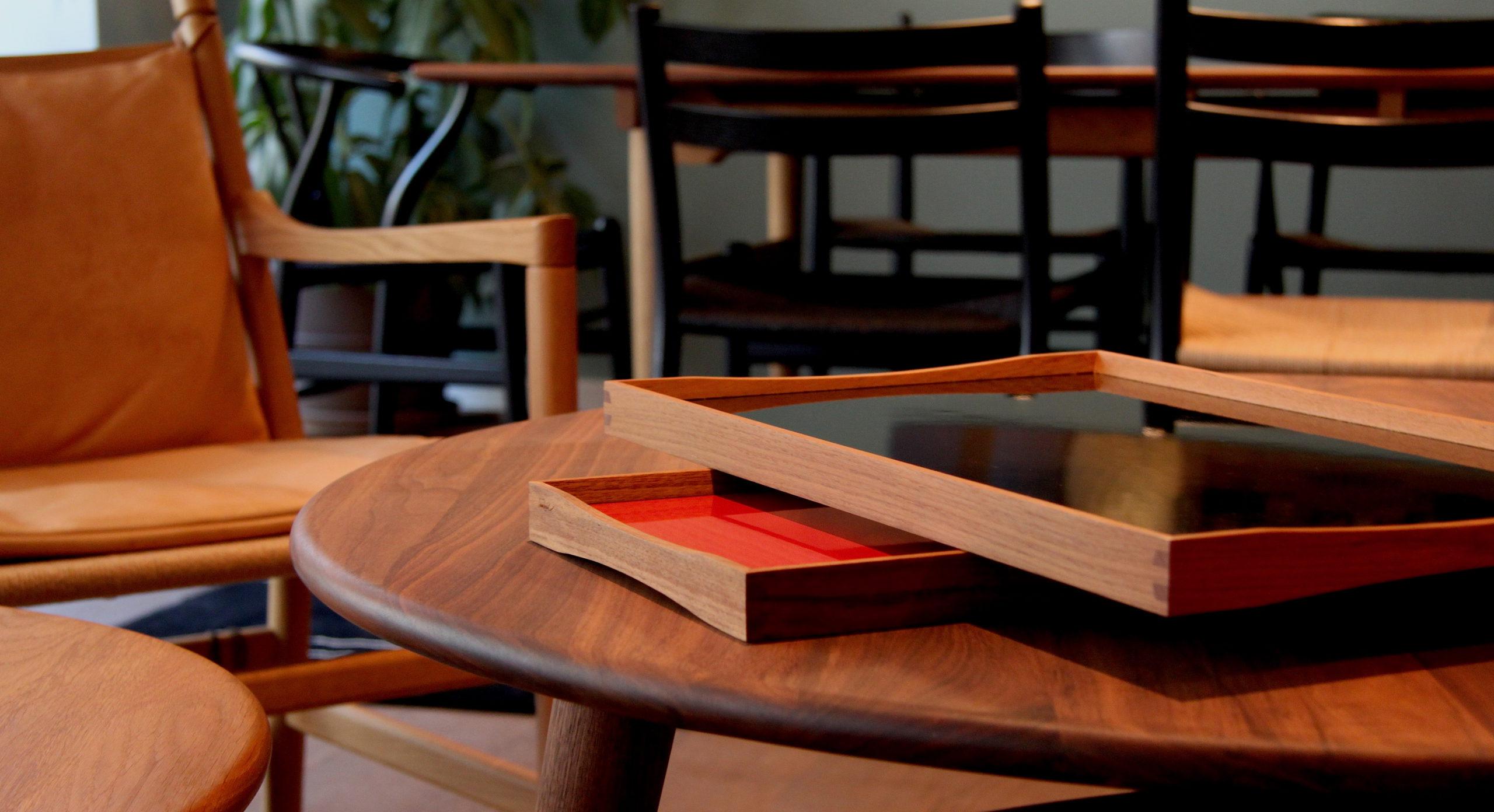 ARCHITECTMADE Turning Tray Teak Laminate Denmark Finn Juhl