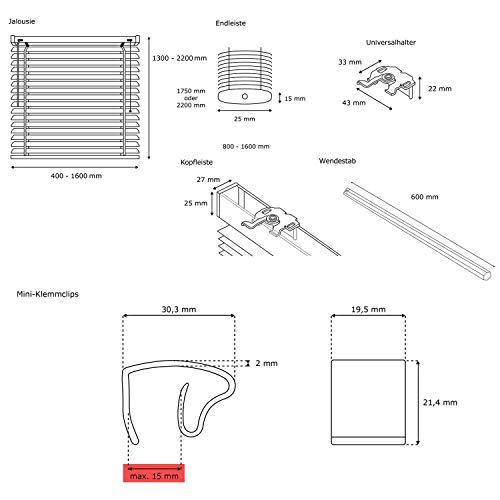 Victoria M. Aluminium Jalousie inkl. Klemmclips - 6
