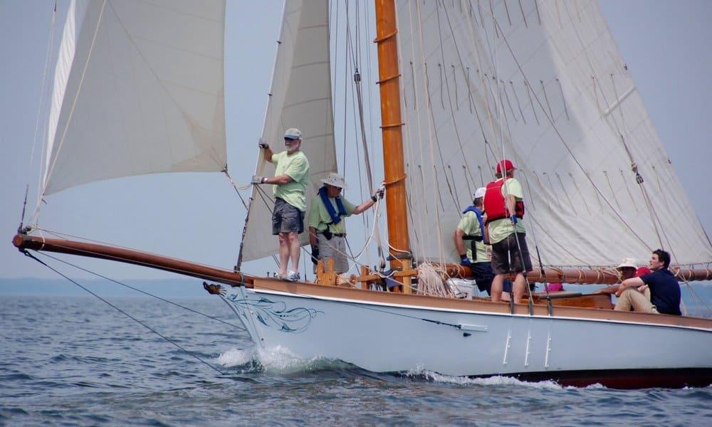 1888 racing yacht  Elf