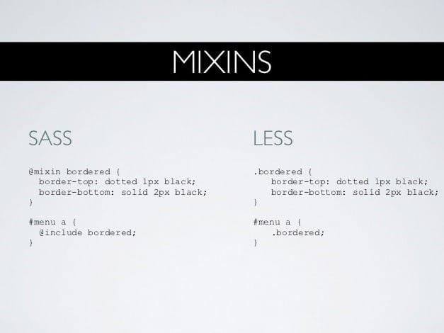 SASS vs LESS