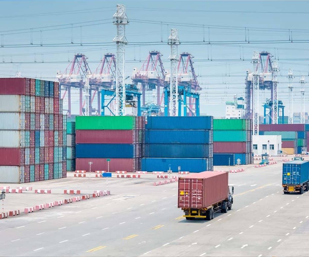 Sloopwerken container overslag terreinen