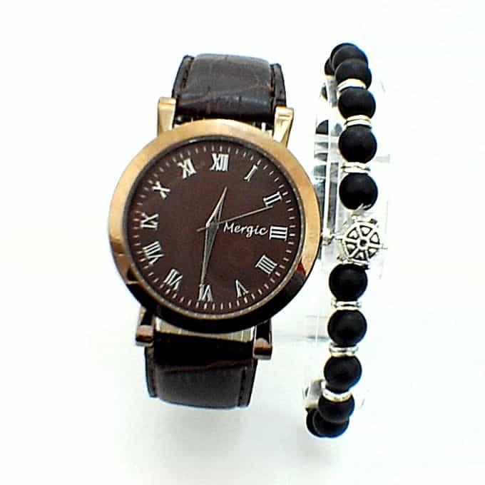 Montre Mergic avec un Bracelet livrée en Boite Cadeau