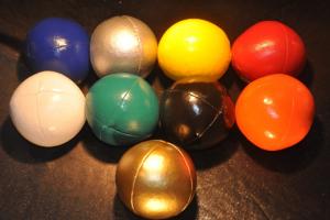9 Farben Bälle, Bild von Stephan Ehlers zur Verfügung gestellt