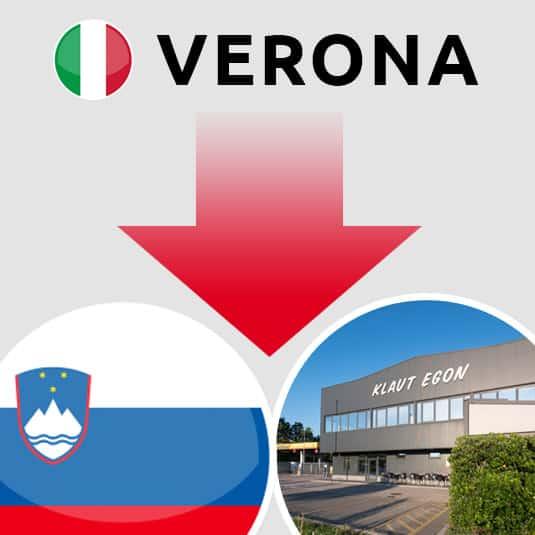 Prevoz Verona (IT) – Šempeter pri Gorici