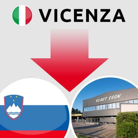 Prevoz Vicenza (IT) – Šempeter pri Gorici