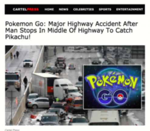 fake news pokemon