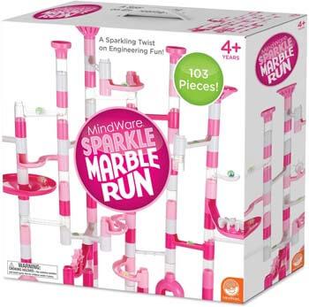 8. MindWare Marble Run Sets (Sparkle Marble Run 103 Piece Set)
