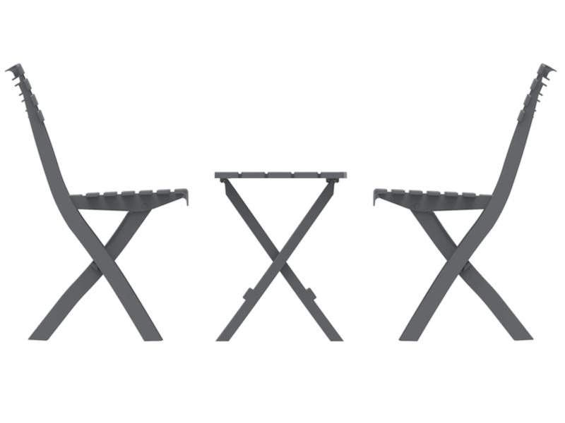 Portable Plastic Folding Chair & Table Set