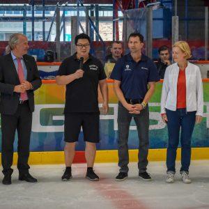 Botschafter und Bundestagsabgeordnete bei der HiD Trophy Berlin