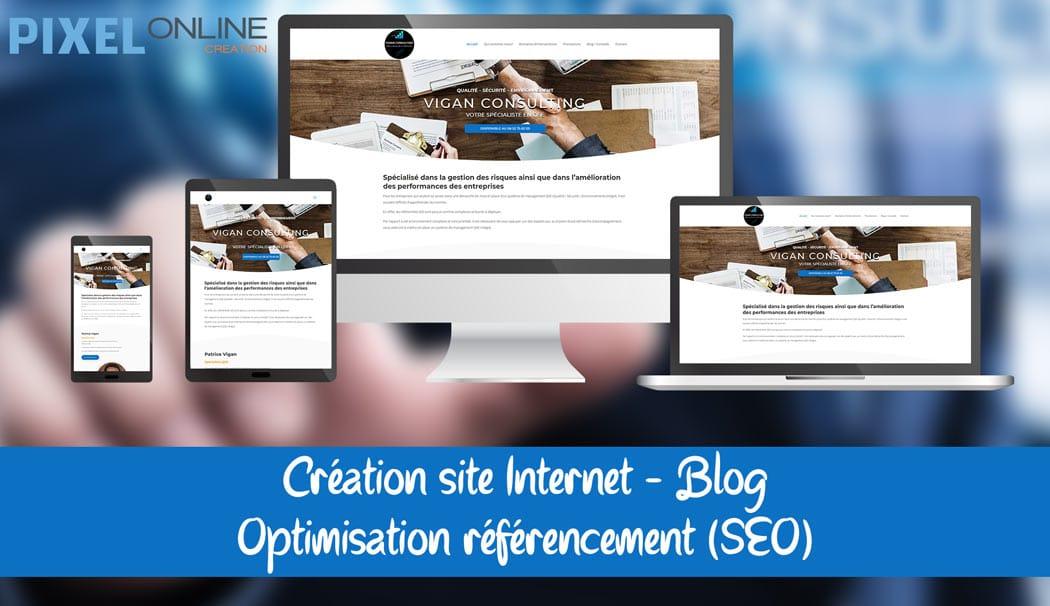 Création de site Internet et référencement pour consultant QSE