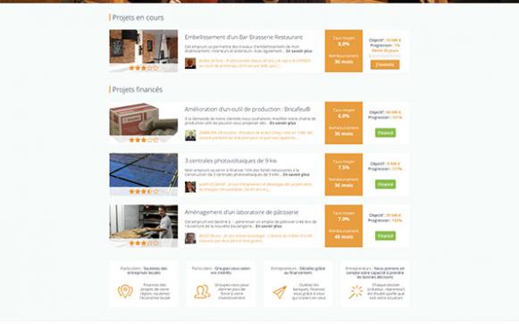 Capture d'écran du site internet PretStroy